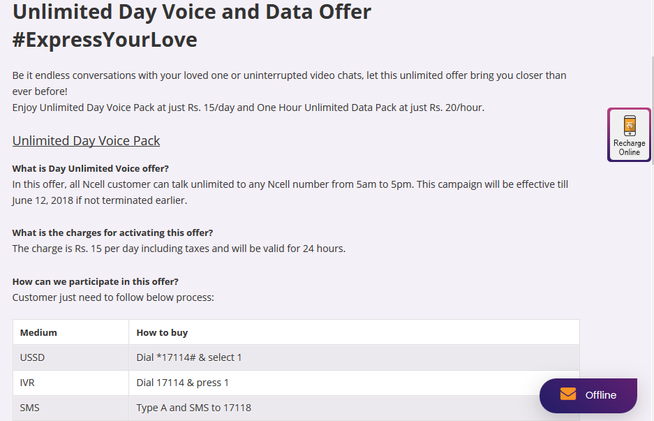 Cleartalking NCELL VOICE PACKS