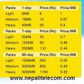 Ncell new data pack tariff weekly monthly daily