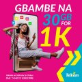 Telcom GBAMBE NA 30GB for 1K