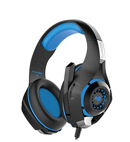 Get 4% OFF - Cosmic Byte GS410 Headphones with Mic (Black/Blue)