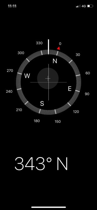 Quickly find compass from your iPhone X