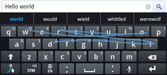 Swipe on your keyboard to type fast and save time