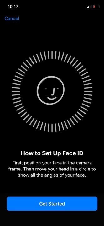 Add Face Id to iPhone X for the first time