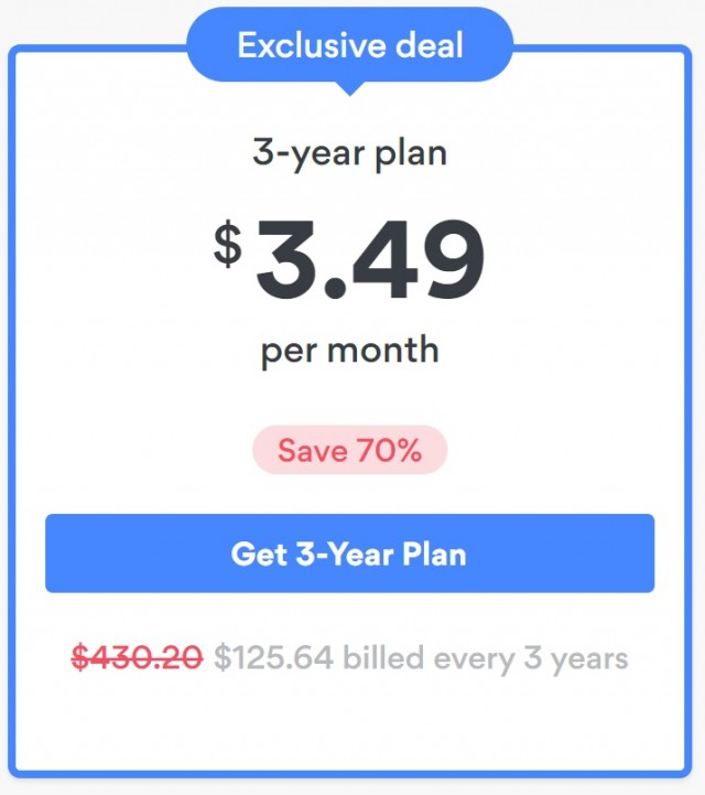 70% Off 3 Years NordVPN Plan for just $3.49/month + Free extra months offer for a limited time