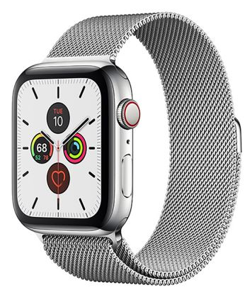 Save $50 on  Apple Series 5 smart watch,GPS & cellular 40mm stainless steel case