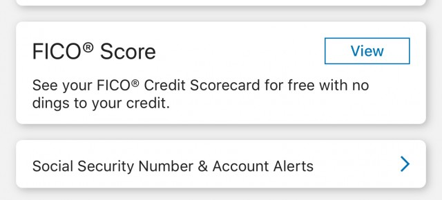 Free FICO credit score access through Discover Mobile App