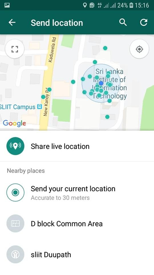 Quickly share your location in whatsapp with your friends