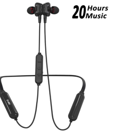 Save 3,000 - truke Yoga Power in-Ear Neckband Wireless Bluetooth Earphones with Mic (Black)