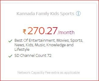 Get a lot of benefit on Kannada Family Kids Sports at only Rs.270.27/month by Tata Sky