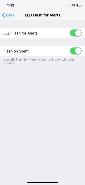 Turn on LED flash for Alerts in iPhone X