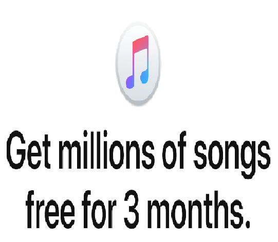 Try Apple Music FREE for 3 months of Unlimited Music