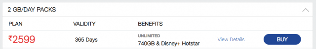 Get 1-year Disney+ Hotstar worth Rs.399 at No Extra Cost with Jio 2GB/DAY PACK