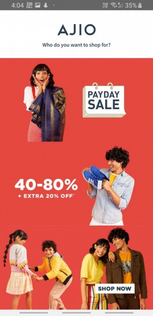 AJIO Online Shopping App  Handpicked Curated Fashion