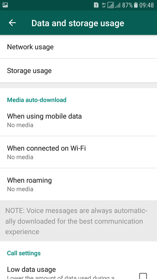 Stop wasting your mobile data from auto downloading in WhatsApp
