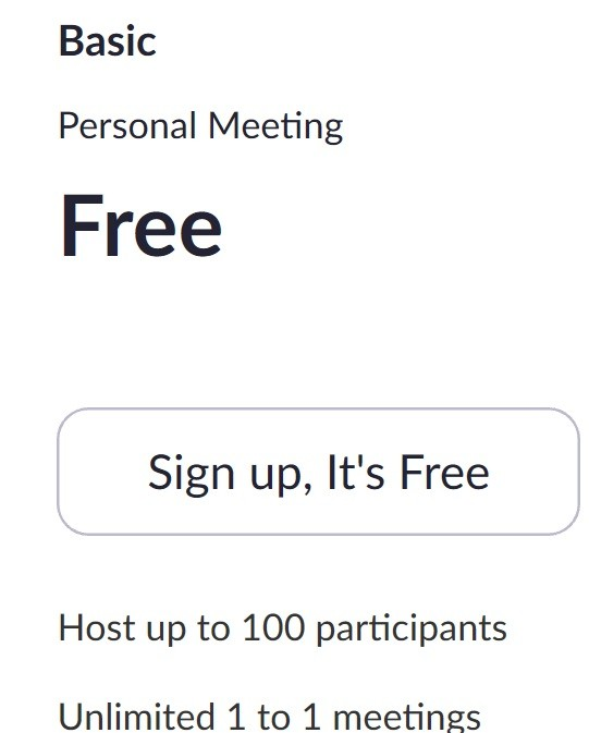 Zoom Free Conference Call for up to 100 participants
