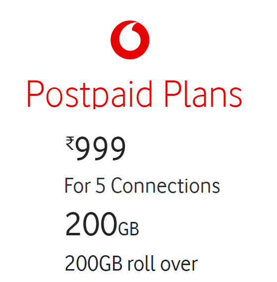 Vodafone Unlimited Calls - Postpaid Family Plans with free streaming subscriptions