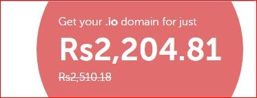 Get 12% off your .IO domain