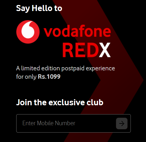 Vodafone REDX - A limited-edition postpaid experience for only Rs.1099