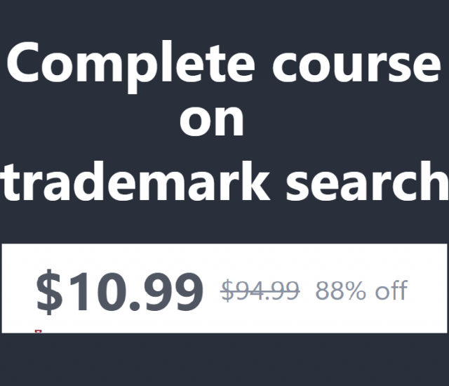 Save $84  - Complete course on trademark search: for trouble-free brands