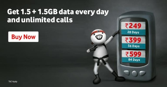 Vodafone Double Data & Unlimited Calling Plans