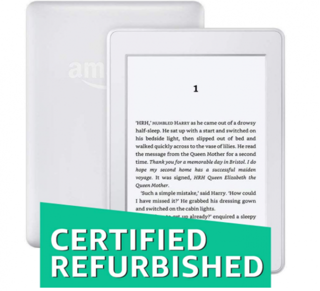 25% OFF - Kindle Paperwhite 7th Gen White (Certified Refurbished with 1 Year Warranty)