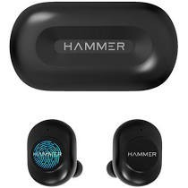 75% OFF - Hammer Black Airtouch Bluetooth Wireless Earbuds with Touch-Control