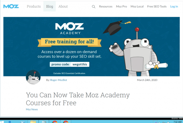 Moz Academy courses are now available for free!