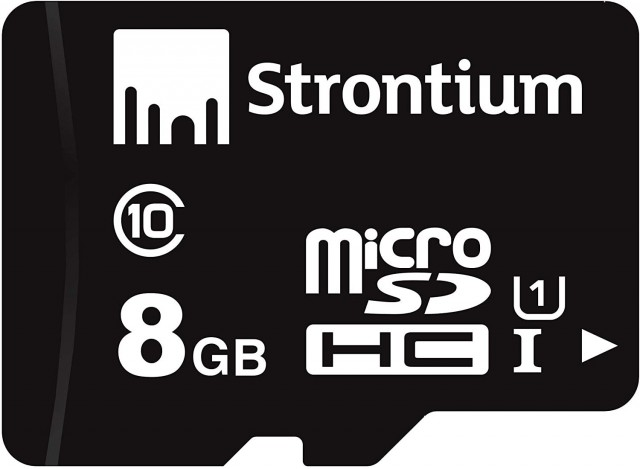 31% OFF - Strontium Class 10-8GB MicroSD Memory Card (Black)
