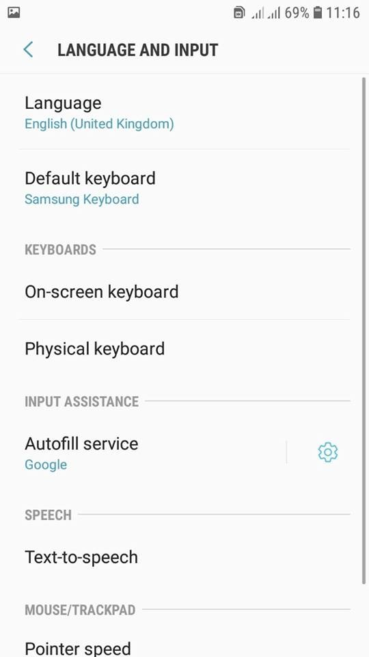 Quickly Change Input Language in Your Samsung J7