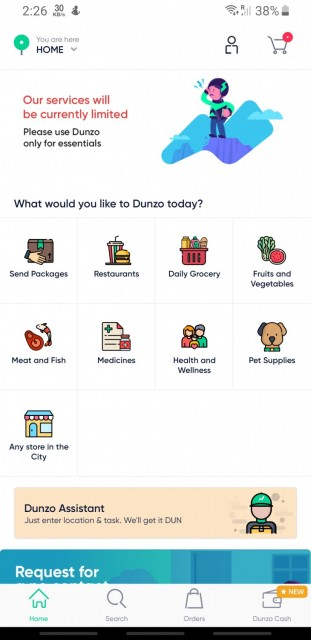 Dunzo App  24x7 delivery