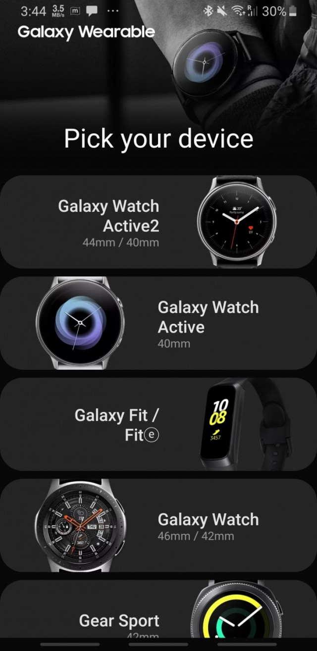Galaxy Wearable App  Samsung Gear to connect wearable devices to your mobile device