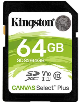 Save Rs. 301 on Kingston Select Plus 100MB/S 64GB Camera SD Card