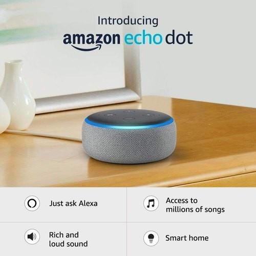 22% OFF - Amazon Echo Dot Smart Speaker with Alexa (3rd Gen) in Grey