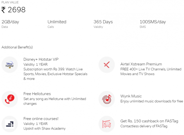 Airtel Truly Unlimited Yearly Plan With Lots Of Additional Benefits