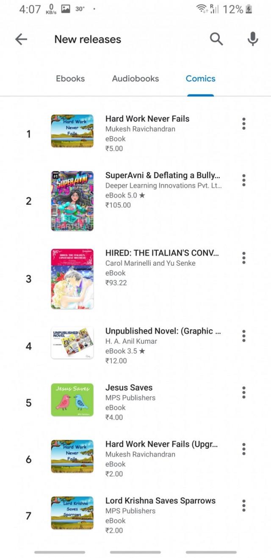 Google Play Books App  Ebooks, Audiobooks, and Comics