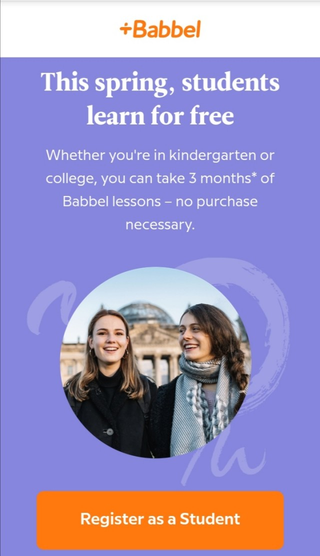 Babbel Language Learning - 3 Months Free