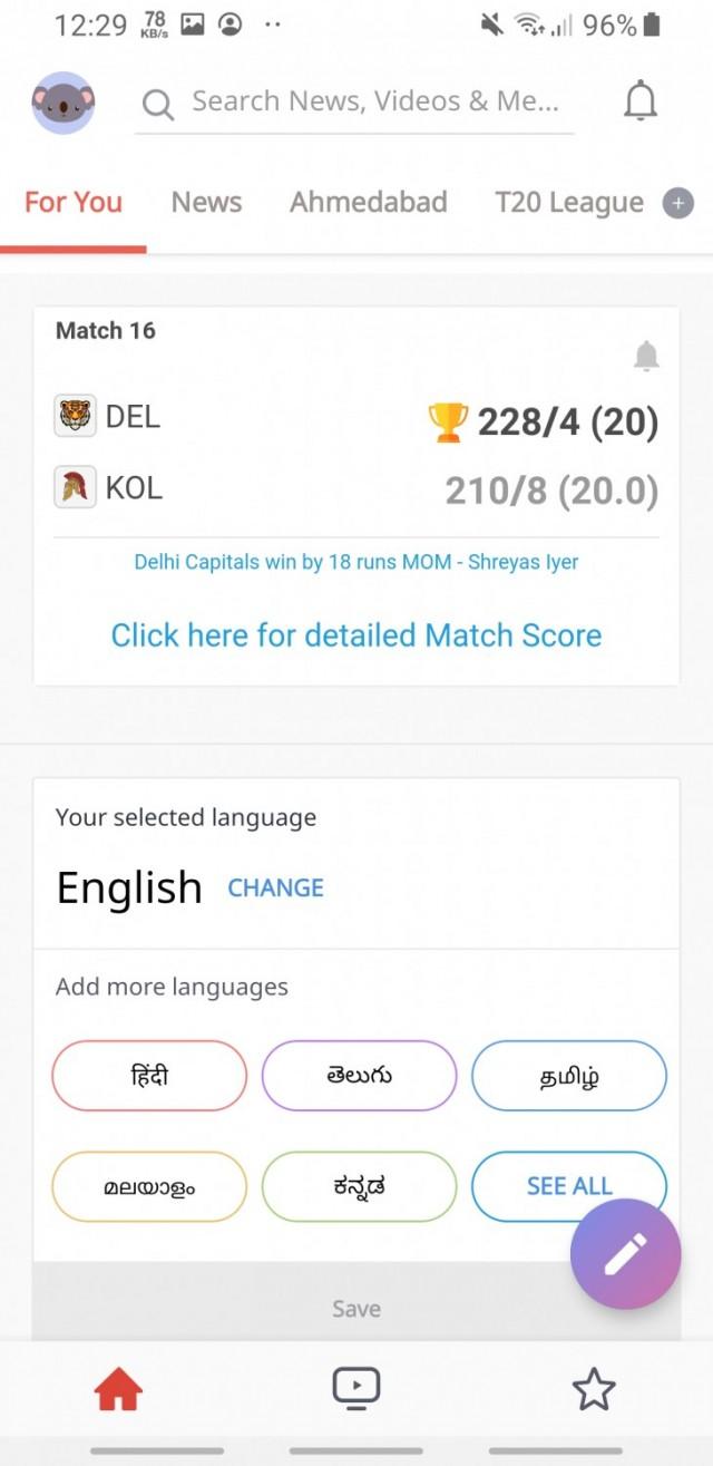 Dailyhunt  App  100% Indian App for News & Videos