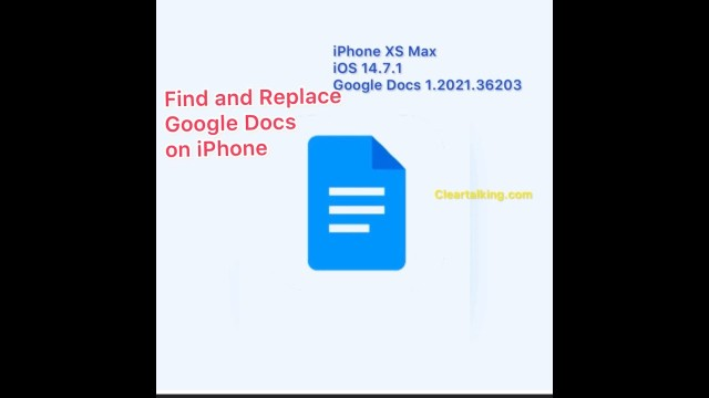 How to find and replace on Google Docs app using iPhone?