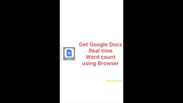 How to get the real time word count in Google Docs using the browser?